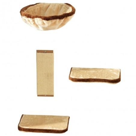 Klimwand 4-delig Beige/Bruin