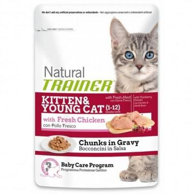 Natural Trainer Kitten & Young Cat Kip 85 gram