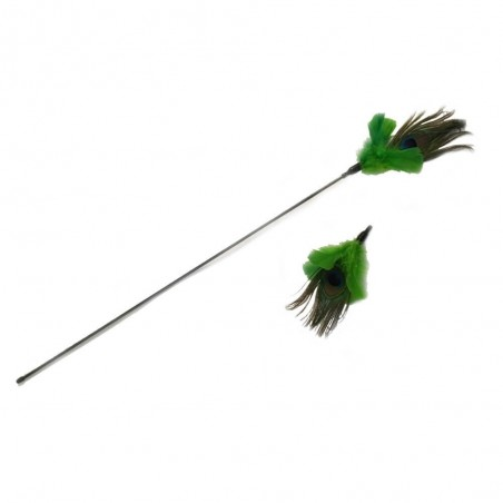 Vee Toys PURRfect Peacock Feather Cat Toy