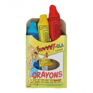 Yeowww!-Ola Catnip Crayons (3 stuks)