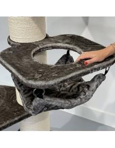 Hangmat Crown Taupe voor Sisalpaal Ø 20 cm