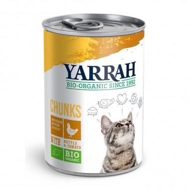 Yarrah Biologische Chunks met Kip 12 x 405 gram
