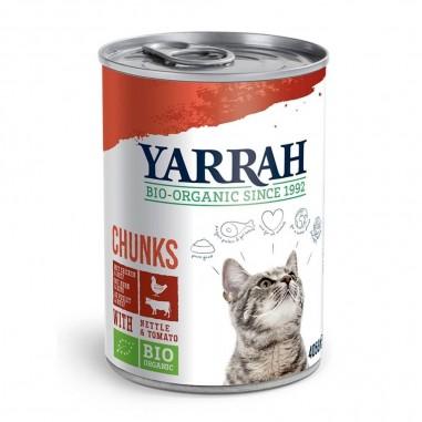Yarrah Biologische Chunks met Kip en Rund 12 x 405 gram
