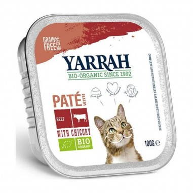 Yarrah Biologisch Pate met Rund en Kip 16 x 100 gram