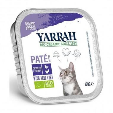 Yarrah Biologisch Pate met Kip en Kalkoen 16 x 100 gram