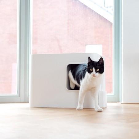 Hoopo Dome Kattenbak Wit