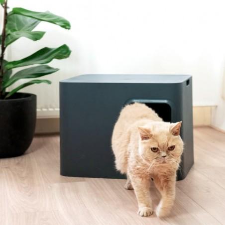 Hoopo Dome Kattenbak Grijs