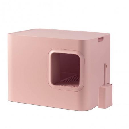 Hoopo Dome Kattenbak Roze
