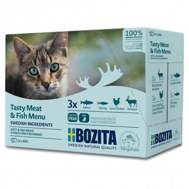 Bozita Feline Pouch Brokjes in Saus Multipack Tasty Meat & Fish Menu