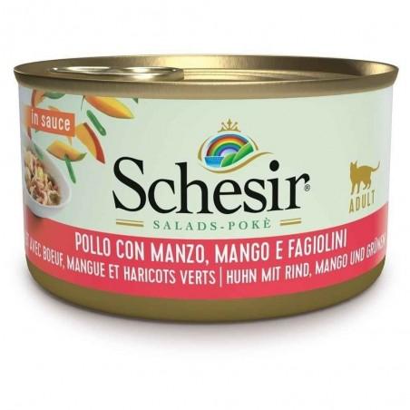 Schesir Salad Poke Kip met Rund, Mango en Sperziebonen 14 x 85 gram