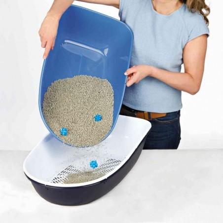 Open kattenbak Berto met zeef donkerblauw