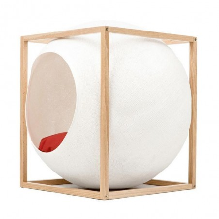 MeYou Kattenmand The Ivory Cube Wood Edition