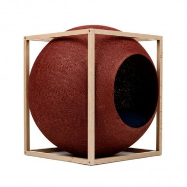 MeYou Kattenmand The Clay Cube Wood Edition