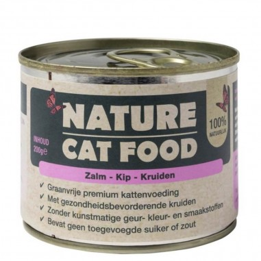 Nature Cat Food Zalm, Kip & Kruiden 6 x 200 gram