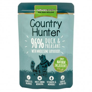 Natures Menu Country Hunter Pouch Eend & Fazant 6 x 85g
