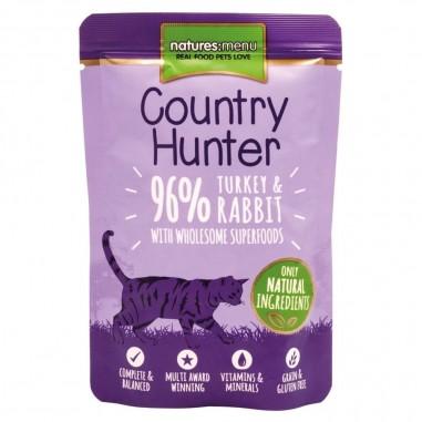 Natures Menu Country Hunter Pouch Kalkoen & Konijn 6 x 85g