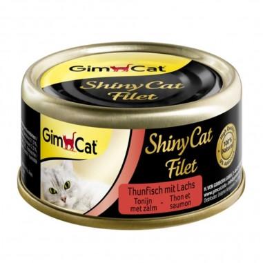 ShinyCat Filet Tonijn met Zalm 24 x 70 gram