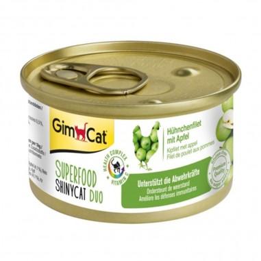 Superfood ShinyCat Duo Kipfilet met Appel 24 x 70 gram