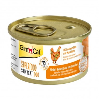 Superfood ShinyCat Duo Kipfilet met Wortel 24 x 70 gram