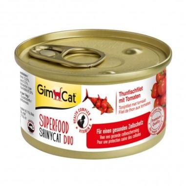 Superfood ShinyCat Duo Tonijnfilet met Tomaat 24 x 70 gram