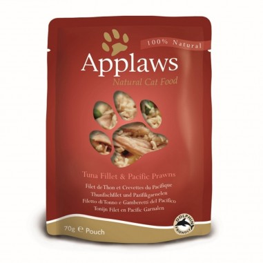 Applaws Tonijnfilet & Pacific Garnaal 12 x 70 gram