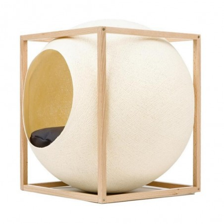 MeYou Kattenmand The Champagne Cube Wood Edition