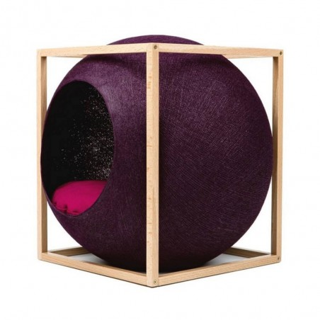MeYou Kattenmand The Plum Cube Wood Edition
